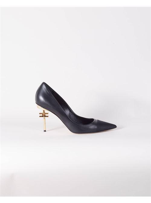 Decolleté tacco scultura logo bassa Elisabetta Franchi ELISABETTA FRANCHI | Scarpa con tacco | SA30B16E2110