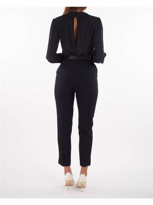 Tuta combinata pantalone e camicia incrociata Elisabetta Franchi ELISABETTA FRANCHI | Tuta | TU26216E2110