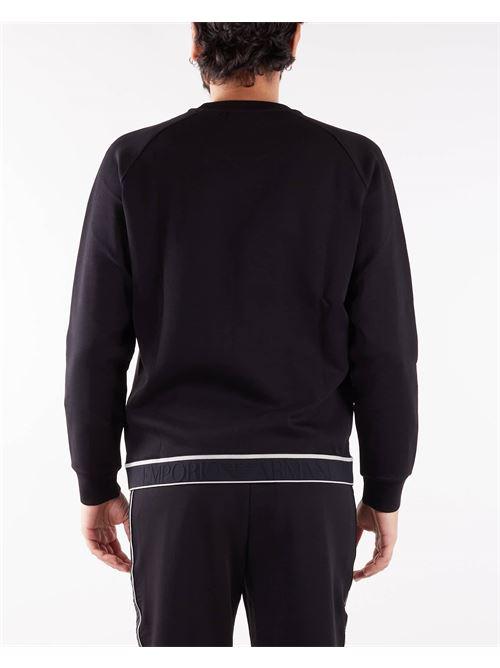 Felpa in double jersey con banda elastica logo jacquard Emporio Armani EMPORIO ARMANI | Felpa | 6K1M741JHSZ999