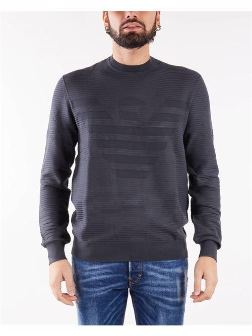 Maglia in tessuto ottoman con intarsio maxi aquila Emporio Armani EMPORIO ARMANI | Maglia | 6K1MXD1MVRZ633