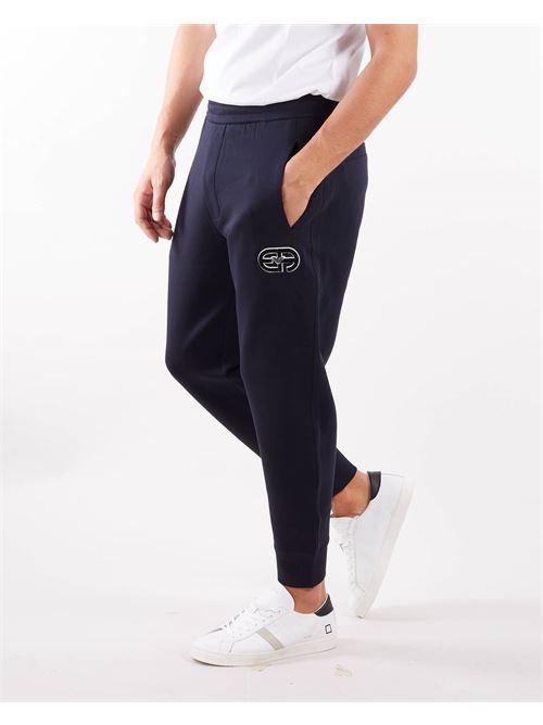 Fantalone in felpa con logo Emporio Armani EMPORIO ARMANI | Pantalone | 6K1P621JHSZ920