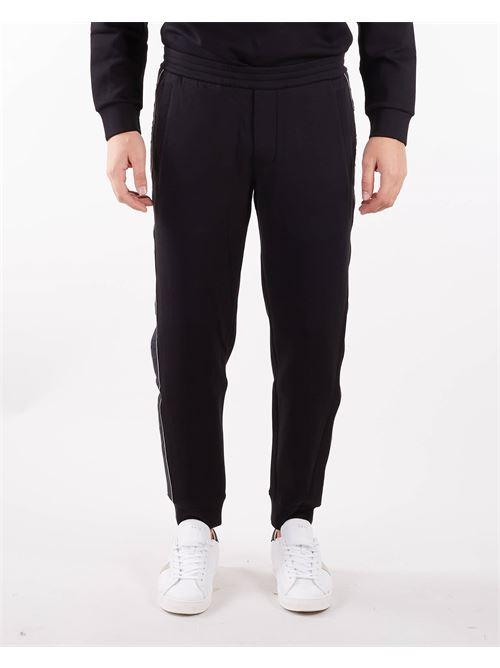 Pantaloni jogger con tape logo jacquard Emporio Armani EMPORIO ARMANI | Pantalone | 6K1P631JHSZ999