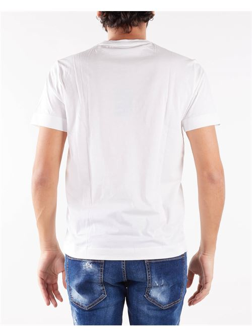 T-shirt in jersey Pima con stampa eagle su logo stencil Emporio Armani EMPORIO ARMANI | T-shirt | 6K1TA51JPZZ188