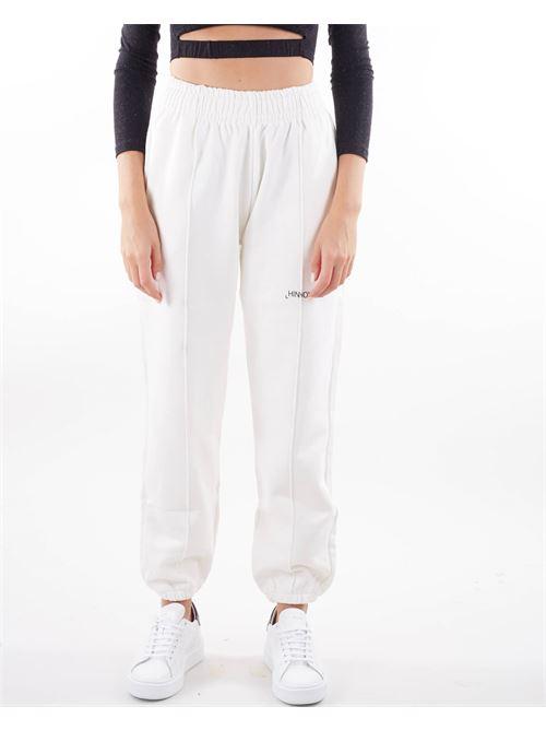 Pantalone con micro stampa logo Hinnominate HINNOMINATE | Pantalone | SP38BIANCO