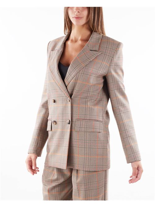 Giacca doppiopetto fantasia check Imperial IMPERIAL | Giacca | JY79CGEBEIGE