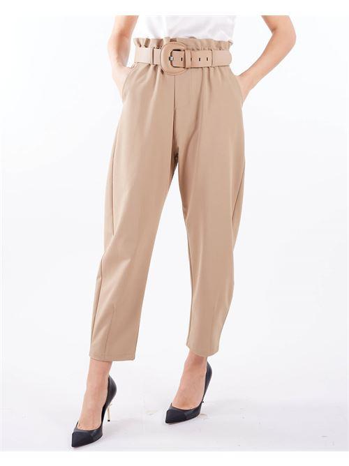 Pantalone con cintura Imperial IMPERIAL | Pantalone | P1W8CNICAMMELLO