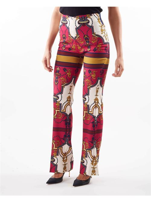 Pantaloni ampi a vita alta Imperial IMPERIAL | Pantalone | P2C9CKRMULTICOLOR