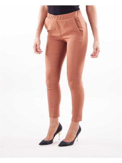 Pantalone skinny con elastico Imperial IMPERIAL | Pantalone | PSR8CCCCIOCCOLATO