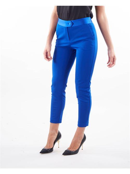 Pantalone skinny con bustino in raso Imperial IMPERIAL | Pantalone | PVN2CDHROYAL