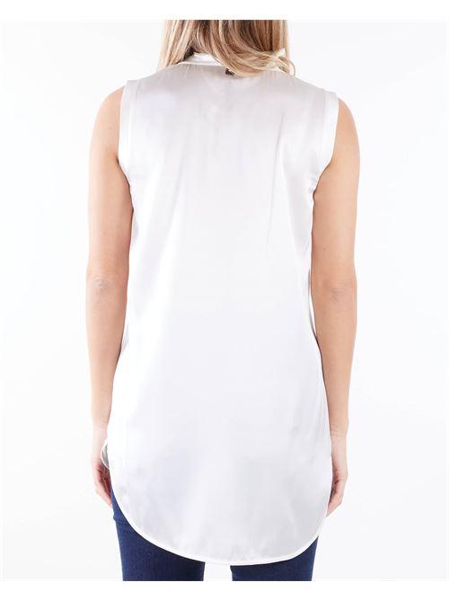 Blusa giromanica con taschino Manila Grace MANILA GRACE | Blusa | C318SUMA043