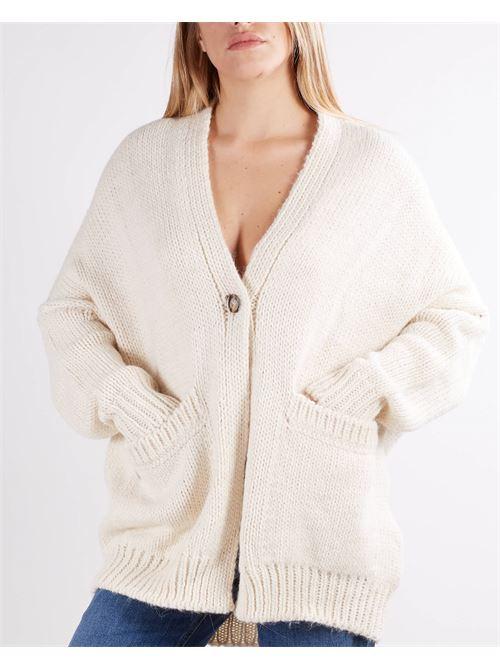 Cardigan in lana rasata Manila Grace MANILA GRACE | Cardigan | M192AUMA148