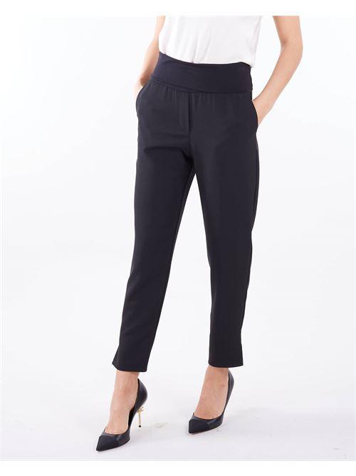 Pantalone a sigaretta Manila Grace MANILA GRACE | Pantalone | P475PUMA001