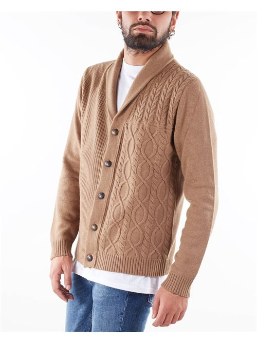 Giacca in maglia jacquard Manuel Ritz MANUEL RITZ | Giacca | 3132M53821386726