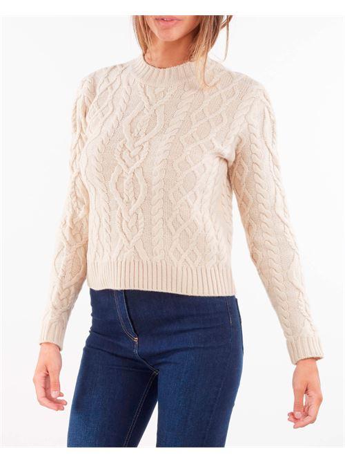 Maglia in filato di lana con lavorazione punto aran Max Mara Weekend MAX MARA WEEKEND | Maglia | ACCORDO2