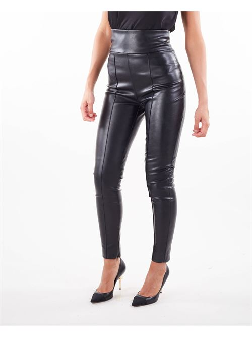 Pantalone in ecopelle di Nineminutes NINEMINUTES   Pantalone   LEGSLEATHERNERO