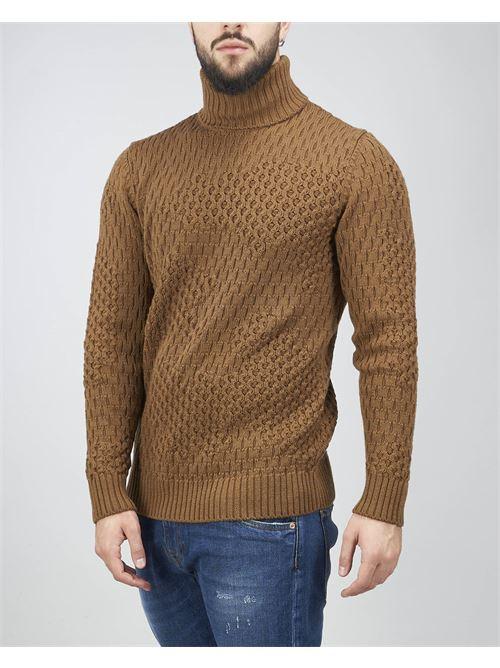 Maglia jacquard in lana con collo alto Paolo Pecora PAOLO PECORA | Maglia | A02170151181