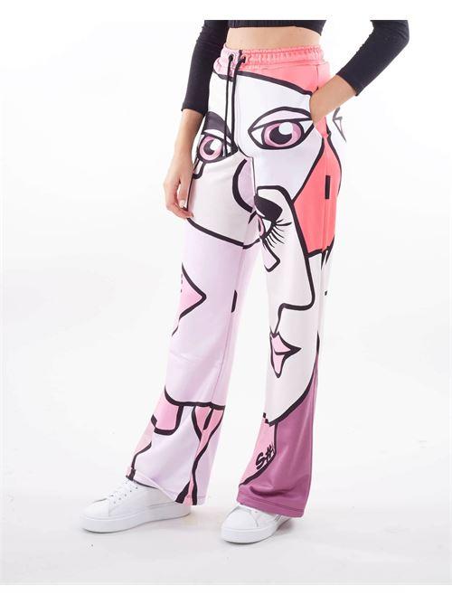 Pantalone palazzo stampato S#IT S#IT   Pantalone   SHT007PA9