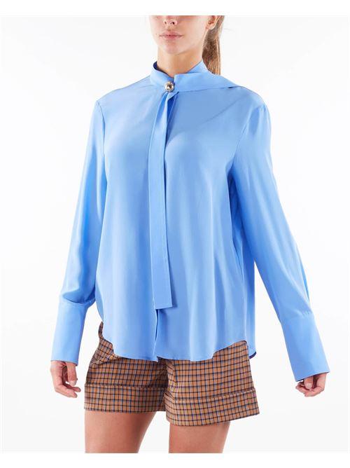 Camicia con bottone gioiello Simona Corsellini SIMONA CORSELLINI | Camicia | CA00402TCDC0007522