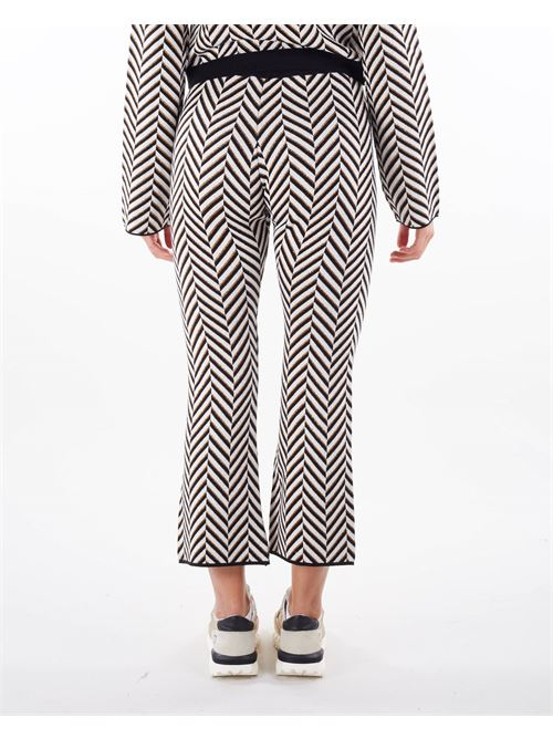 Pantalone in maglia jacquard Simona Corsellini SIMONA CORSELLINI | Pantalone | PAE0201C02600020