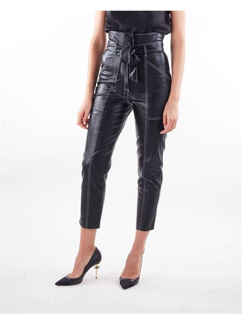 Pantaloni carrot in tessuto spalmato Twinset TWIN SET | Pantalone | TP20216