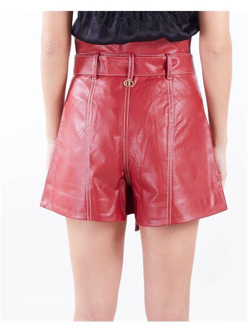 Short a vita alta con cintura Twinset TWIN SET | Shorts | TP251097S