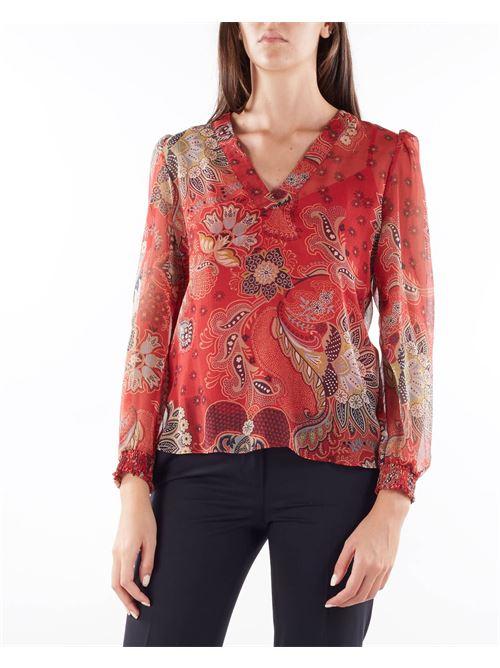 Blusa in creppone a fiori Twinset TWIN SET | Blusa | TP26426413