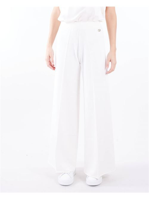 Pantalone in maglia a zampa vita alta Twinset TWIN SET | Pantalone | TP3114282