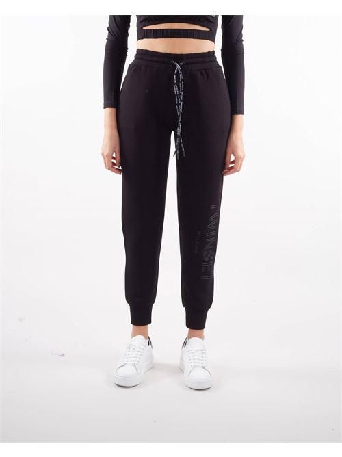 Joggers in tessuto scuba con logo Twinset TWIN SET | Pantalone | TT20916