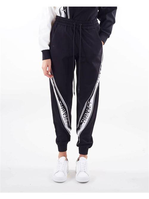 Joggers in maglia con logo Twinset TWIN SET | Pantalone | TT23832741
