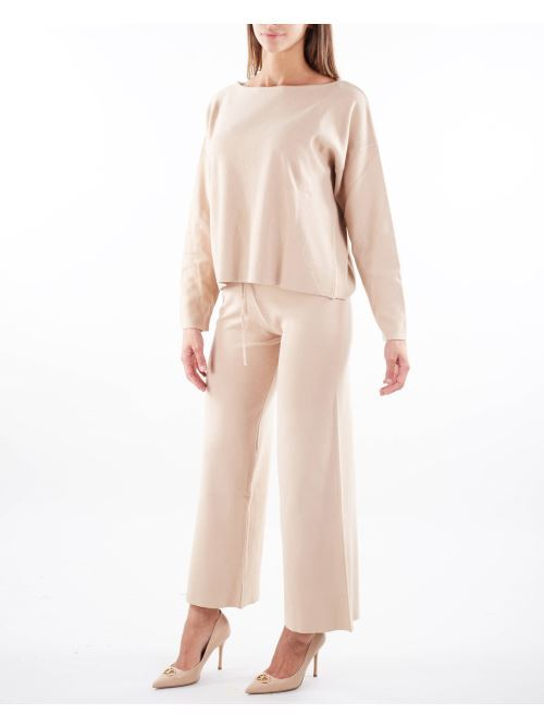 Pantalone ampio con elastico in vita Vicolo VICOLO | Pantalone | 2078XBEIGE