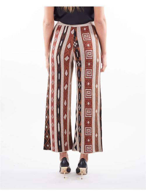 Pantalone jacquard in maglia Vicolo VICOLO | Pantalone | 7071XMULTICOLOR
