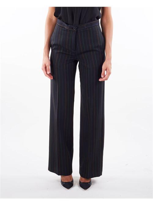 Pantalone fantasia righe Vicolo VICOLO | Pantalone | TX0377NERO