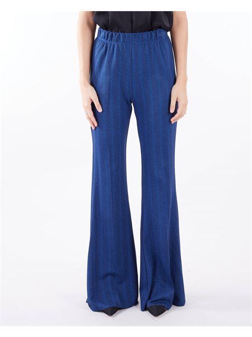 Pantalone jacquard a vita alta Vicolo VICOLO | Pantalone | TX0556BLU