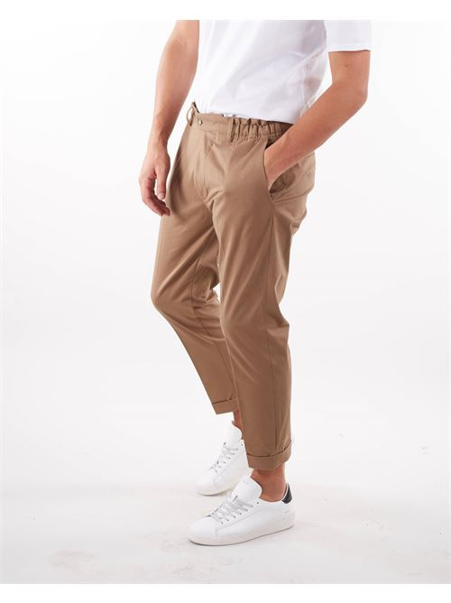 Pantalone in cotone caldo con elastico in vita Yes London YES LONDON | Pantalone | XP3107CAMMELLO
