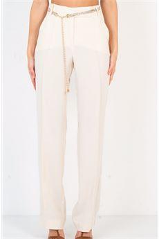 Pantalone con cintura Babylon BABYLON | Pantalone | S00584PANNA