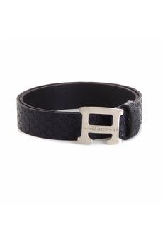 Cintura Daniele Alessandrini con logo in acciaio DANIELE ALESSANDRINI | Cintura | 1235BELT0731BLU