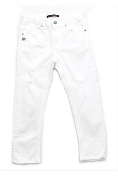 Pantalone daniele Alessandrini di cotone bianco DANIELE ALESSANDRINI | Pantalone | 1235P0623BIANCO