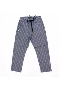 Pantalone a righe Daniele Alessandrini con culisse. DANIELE ALESSANDRINI | Pantalone | 1235P0641BV
