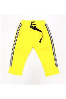 Pantalone giallo con bande laterali Daniele Alessandrini DANIELE ALESSANDRINI | Pantalone | 1235P0664GIALLO