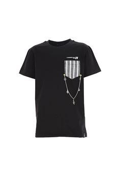 T-shirt Daniele Alessandrini nera con taschino DANIELE ALESSANDRINI | T-shirt | 1236M0619NERO
