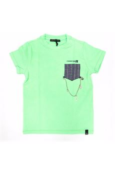 T-shirt giro collo verde Daniele Alessandrini DANIELE ALESSANDRINI | T-shirt | 1236M0729VERDE