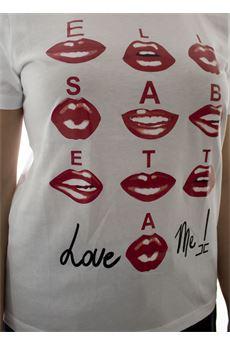 T-shirt con stampa Love Me Elisabetta Franchi ELISABETTA FRANCHI   Maglia   MA17101E2270