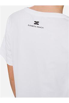 T-shirt con stampa slogan Elisabetta Franchi ELISABETTA FRANCHI | Maglia | MA17C01E2270