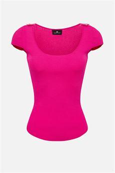 T-shirt in maglia Elisabetta Franchi ELISABETTA FRANCHI | Maglia | MK09B01E2V85