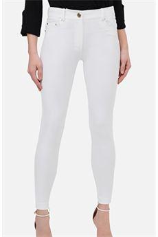 Pantalone skinny con bottone oro light Elisabetta Franchi ELISABETTA FRANCHI | Pantalone | PA33602E2360
