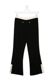 Pantalone con spacco al fondo Elisabetta Franchi la mia bambina ELISABETTA FRANCHI | Pantalone | PA79GA3730