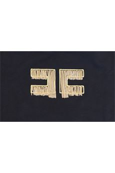 T-shirt con logo Elisabetta Franchi La Mia Bambina ELISABETTA FRANCHI | T-shirt | TS98JE95B17