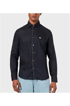 Camicia in lino con collo removibile Emporio Armani EMPORIO ARMANI | Camicia | 3H1CP51NJIZ920