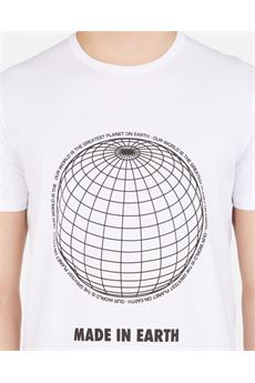 T-shirt con stampa ''MADE IN EARTH'' Paolo Pecora PAOLO PECORA | T-shirt | F311T4051101