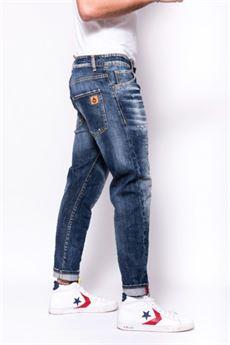 Jeans 5 tasche Patriot con logo sulla tasca dietro. PATRIOT | Jeans | PKAY1020DENIM
